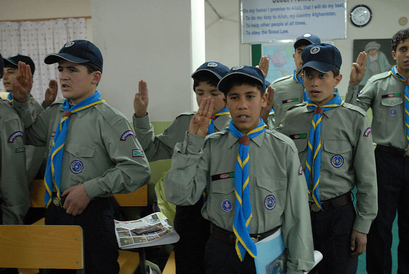 Boy scouts in Kabul, Afghanistan, 2011 [Attr: author: Stacey Haga, isamedia]