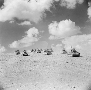 British Matildas move against Tobruk, 1941 [Public domain, Imperial War Museum]