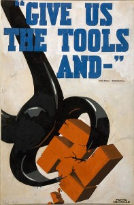 WWII poster [Public domain, wikimedia]