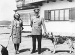 Eva Braun with either Negus or Stasi, and Adolf Hitler with Blondi (if 1942) or Blonda (if 1940), taken at the Berghof [Attr: Bundesarchiv, B 145 Bild-F051673-0059 / CC-BY-SA, wikimedia commons]