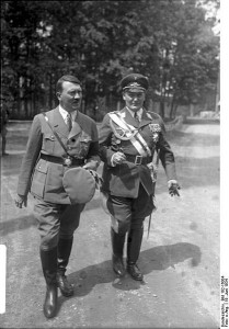 Adolf Hitler and Hermann Goering [Attr: Bundesarchiv, Bild 102-16004 / CC-BY-SA, wikimedia]