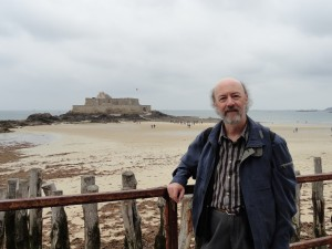 Jeff Williams at the sea front in Saint-Malo, France