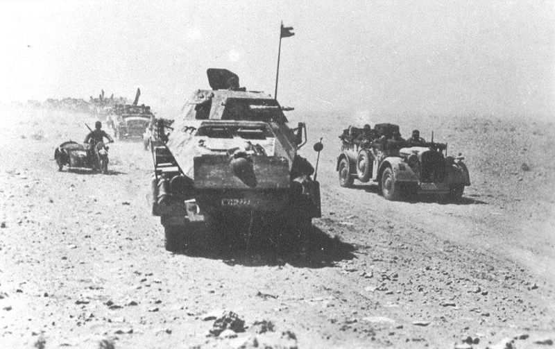 Afrika Korps on the move [Public domain, wikimedia]