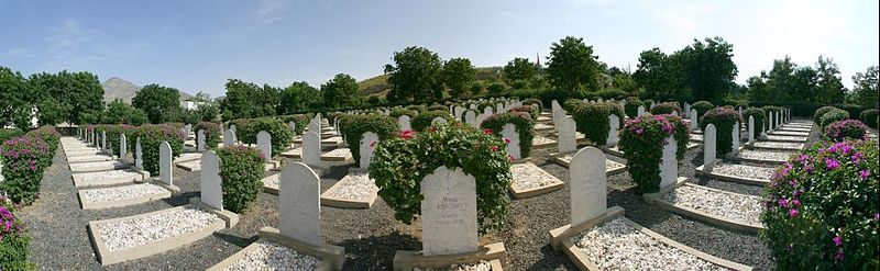 Keren battlefield --- military cemetery [Author: Marco Fera, Creative Commons Share-Alike 3.0 Unported]