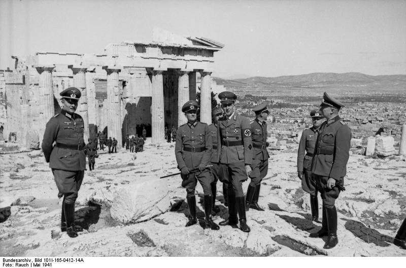 German officers tour the Acropolis, Athens 1941 [Bundesarchiv, wiki]