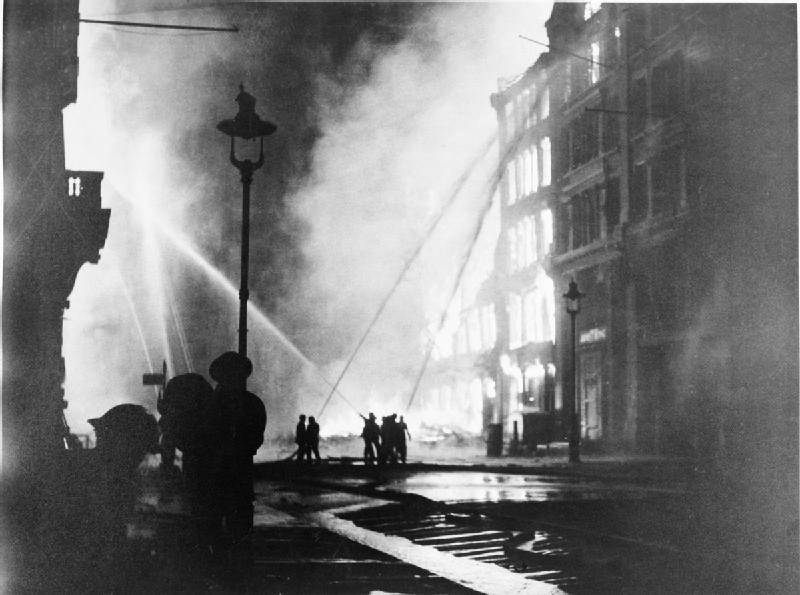 Night of 10-11 May 1941, the last and heaviest raid of the London Blitz [Public domain, Imperial War Museum, wiki]