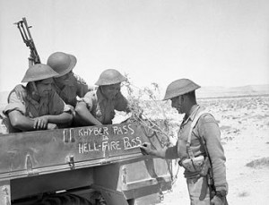 Soldiers of the 4th Indian Division decorate their truck during Operation Battleaxe, North Africa, June 1941 [Public domain, Imperial War Museum, wiki]