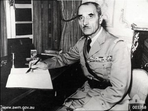 General Georges Catroux [Attr: wiki/AWM Creative Commons, Share-Alike 3.0 Unported]