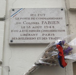 Command post of Pierre Georges (Colonel Fabien) during the 1944 Paris uprising, 34 rue Gandon, XIIIe arrondissement [Creative Commons Share Alike 3.0 unported]