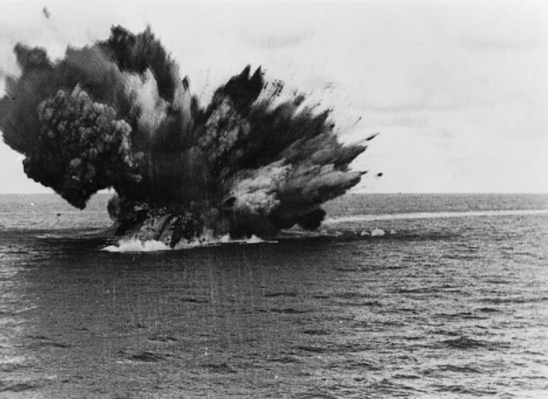 British battleship HMS Barham explodes, 25 November 1941 [Public domain wiki]