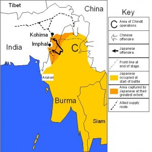 Japanese invasion of Burma and India [Public domain; author: Mike Young]