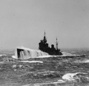 Battleship HMS Duke of York on Arctic convoy duty [Public domain, wiki]