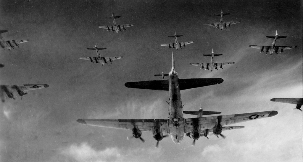American B-17 Flying Fortresses [Public domain]