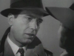 Bogart and Bergman (right, wearing hat) in CASABLANCA, 1942 [Public domain, wiki]