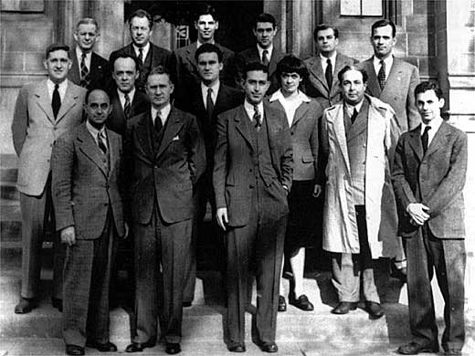 The 'Reactor Team' at the University of Chicago; Enrico Fermi is front row left [Public domain, wiki]