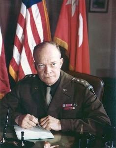 Dwight D. Eisenhower, December 1943 [Public domain, wiki]