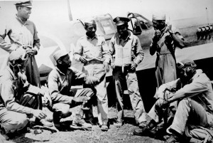 Tuskegee Airmen in the Mediterranean theatre, WWII [Public domain]