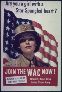 WWII recruitment poster for the Women's Army Corps [Public domain]