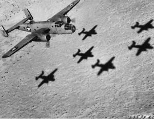 B-25 Mitchell of the USAAF 12th Bombardment Group, WWII [Public domain]