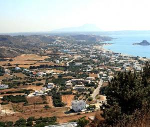 The present-day island of Kos in the eastern Mediterranean [Public domain, author: Karelj]
