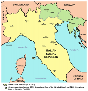 Italian Social Republic (The Salo Republic) [Public domain, wiki, author: Panonian]