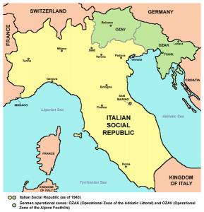 Italian Social Republic (The Salo Republic) [Public domain, wiki, author: Panonian]