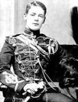 Churchill as a subaltern in the Hussars, 1895 [Public domain]