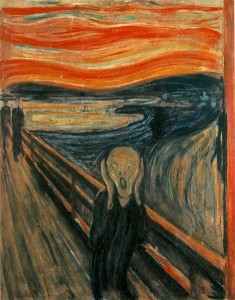 The Scream (1893) by Edvard Munch (1863--1944) [Public domain]