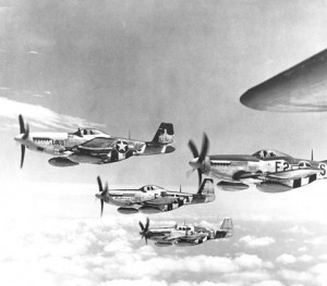 US P-51 Mustang fighters [Public domain]