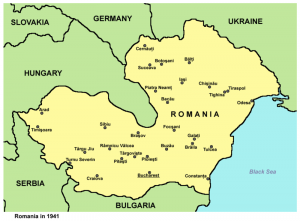 Romania & adjacent countries [Public domain, author: Panonian]