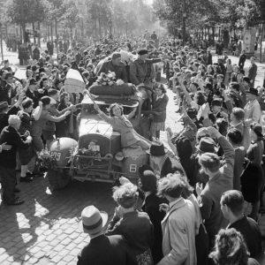 British troops enter Brussels, September 1944 [Public domain]