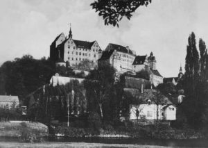 Colditz Castle during WWII [Public domain]