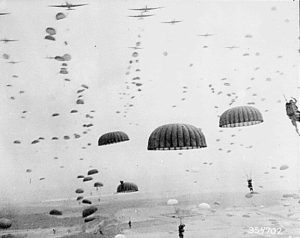 Operation Market Garden: Parachutes of the 1st Allied Airborne Army over Holland, September 1944 [Public domain]