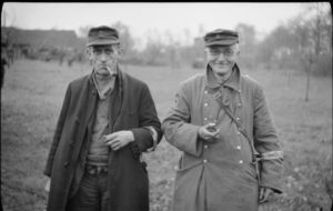 Two members of the Volkssturm after surrendering to the British in March 1945 [Public domain]